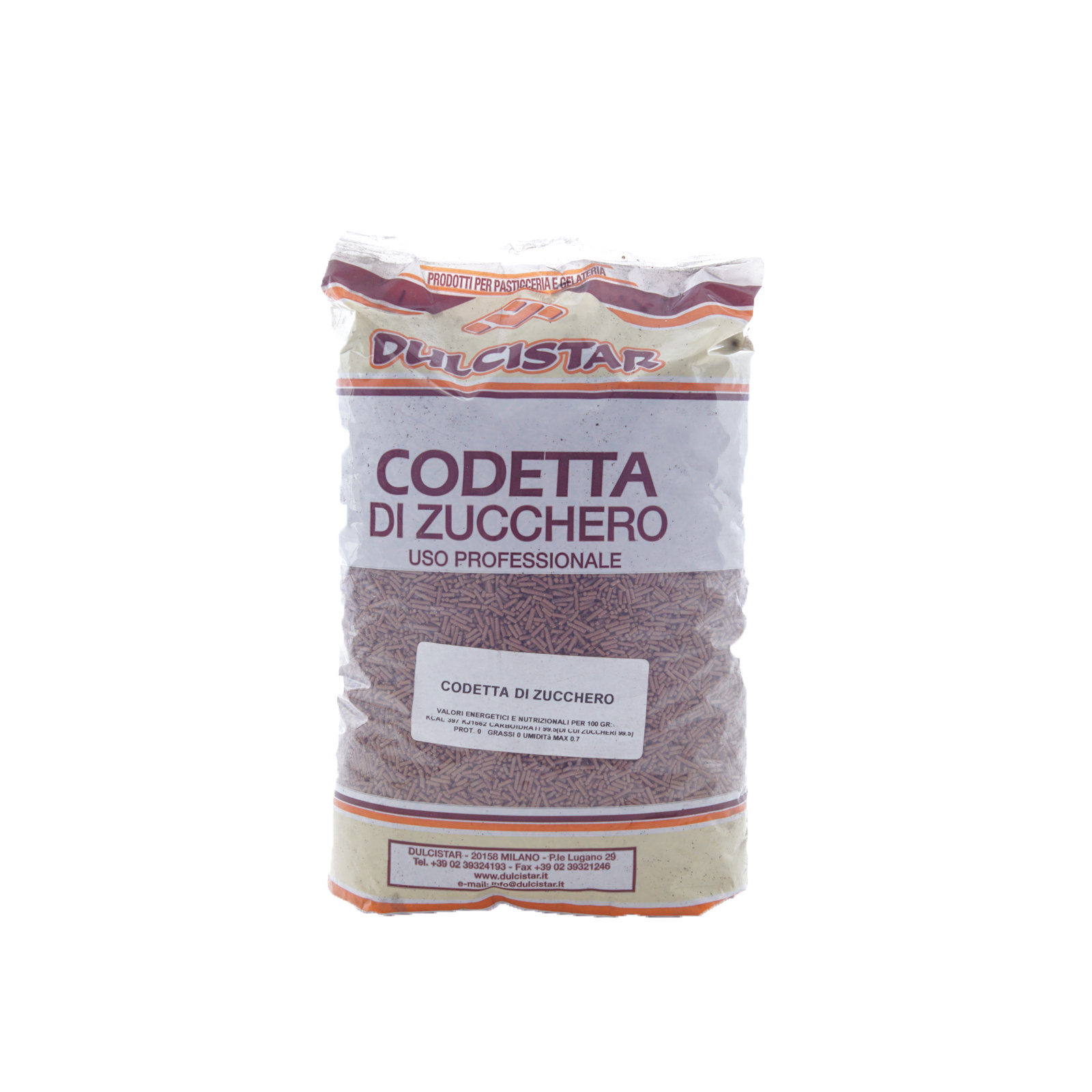 DULCISTAR – CODETTA CIOCCOLATO ZUCCHERO BS  KG1