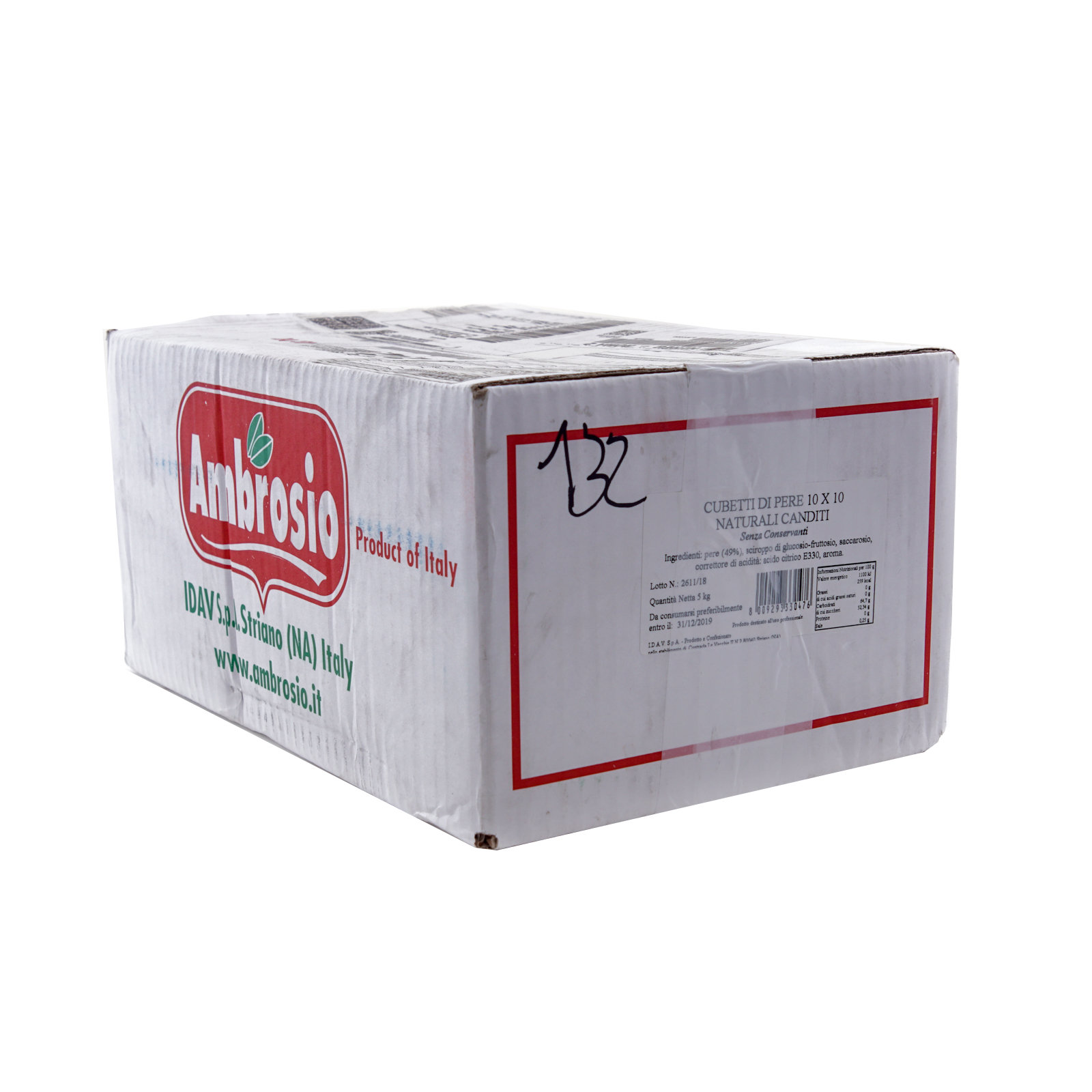 AMBROSIO – PERE BIANCHE CUBETTI CANDITI 10X10 KG. 5